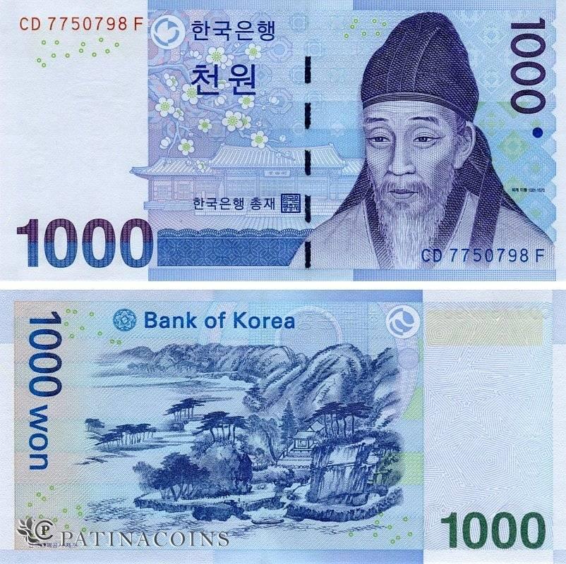 1 рубль (rub) в южнокорейских вонах (krw) на сегодня