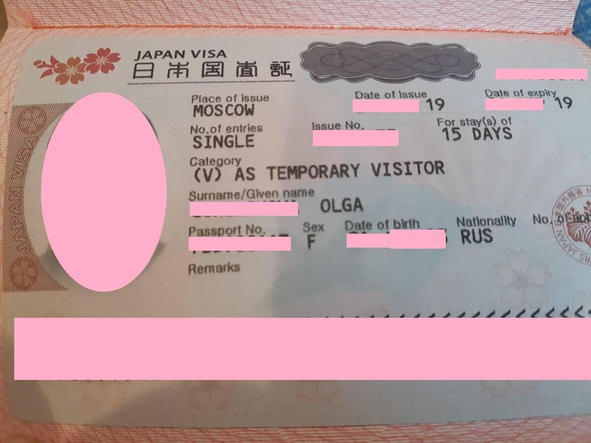 Виза в японию для россиян в 2019 году самостоятельно: инструкция