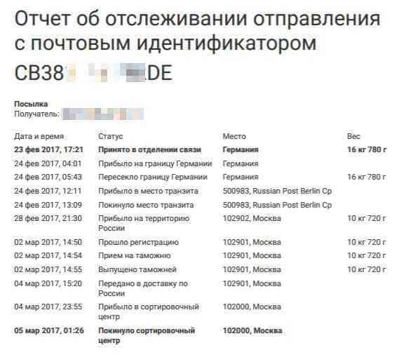 Отследить письмо онлайн   отслеживание писем почта россии