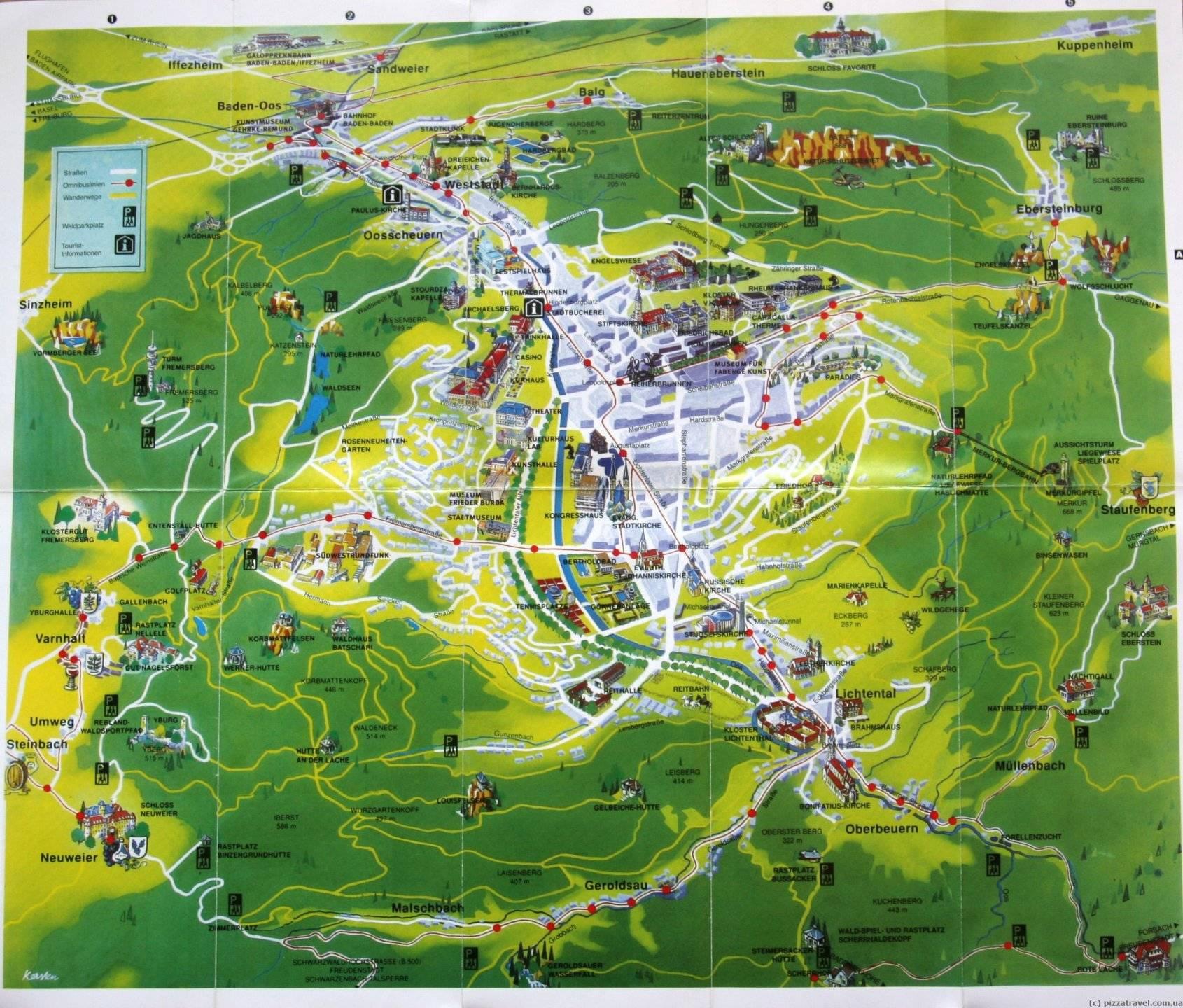 Что посмотреть в баден-бадене и его окрестностях
