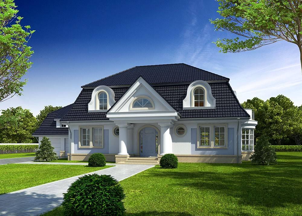Tanie gotowe projekty małych domów jednorodzinnych z poddaszem - domowe klimaty
