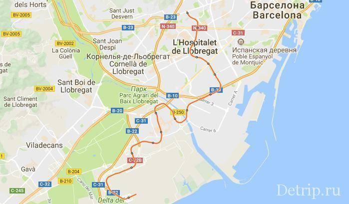 Расстояние между барселоной и малагой
