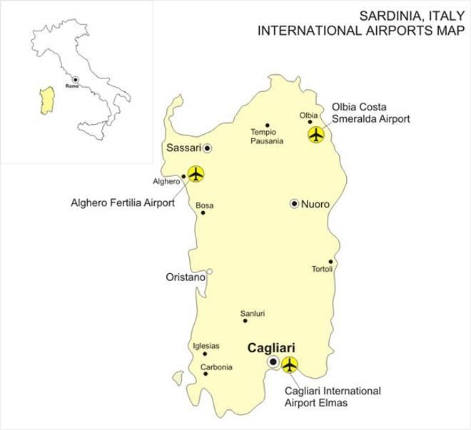 Аэропорты Сардинии: где находятся и чем удобны