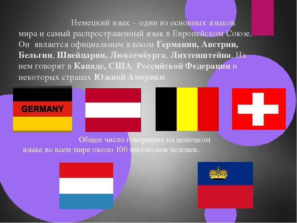 Страны, говорящие на немецком