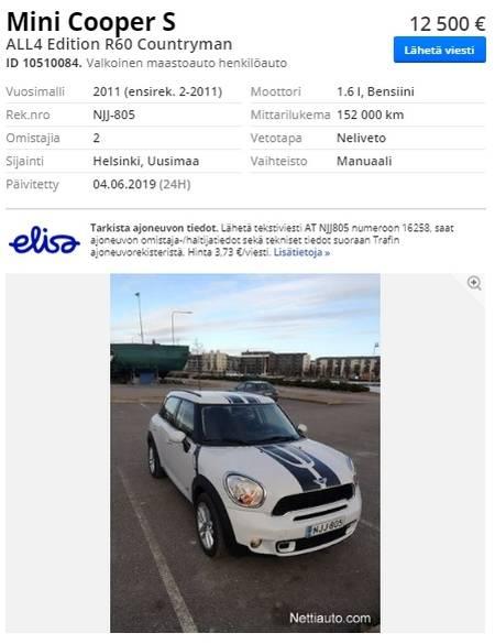 Покупка машины в финляндии