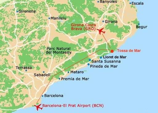 Как из аэропорта барселоны добраться до ллорет-де-мар