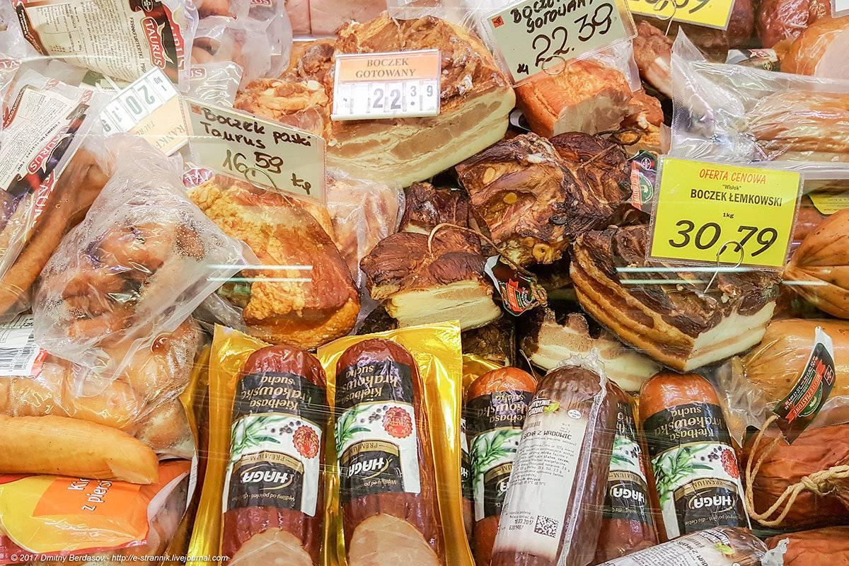 Цены в польше на продукты в магазинах и супермаркетах