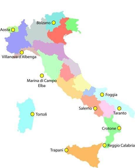 Какие международные аэропорты есть в италии