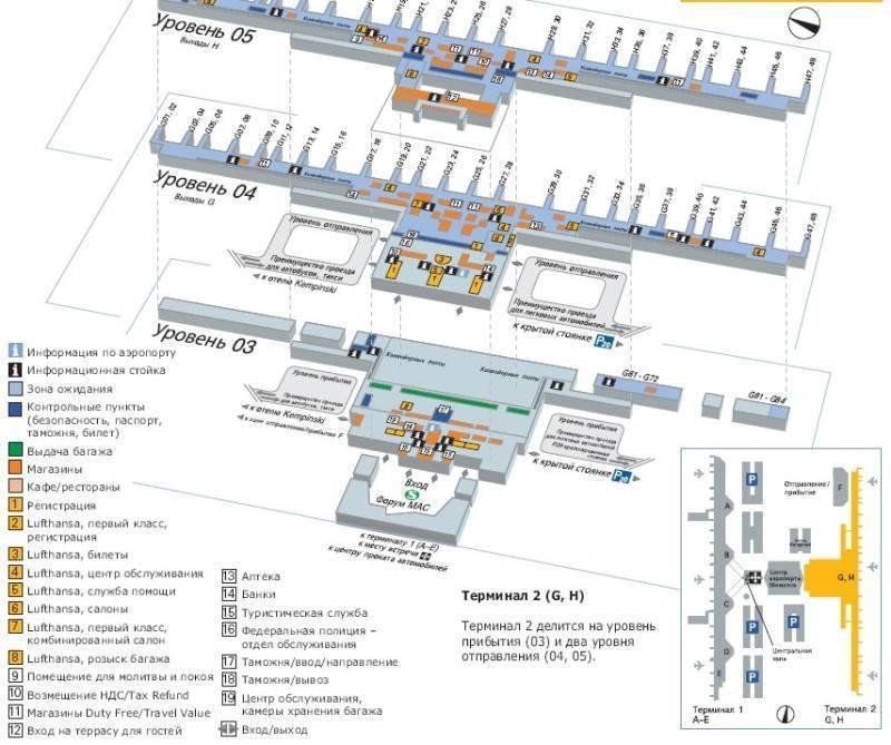Международные аэропорты германии — список и расположение на карте