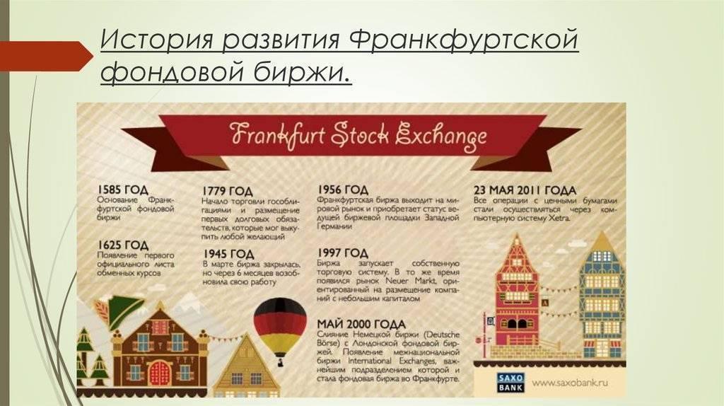 Фондовая биржа во Франкфурте: история, участники, принцип работы