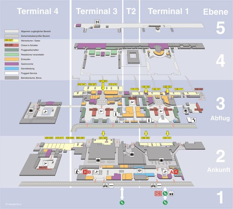 Схема аэропорта франкфурта - фото, транзит, терминалы