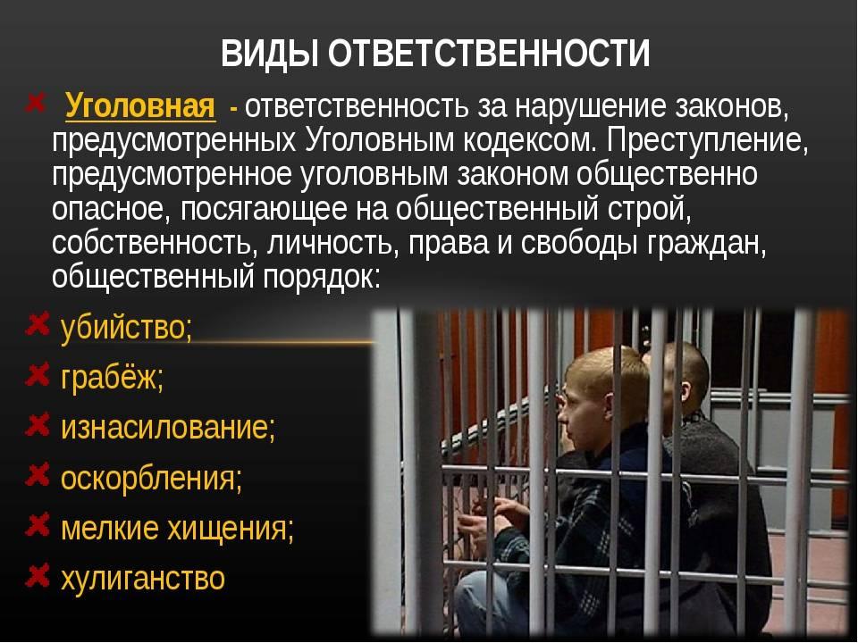 Виды наказаний в германском уголовном праве