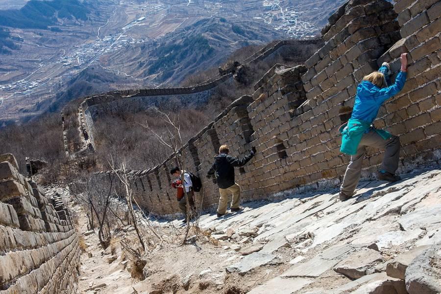Великая китайская стена на карте, длина в милях и км, интересные факты и история строительства