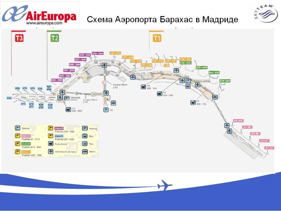 Крупнейший аэропорт испании мадрид-барахас — что ждёт путешественника?