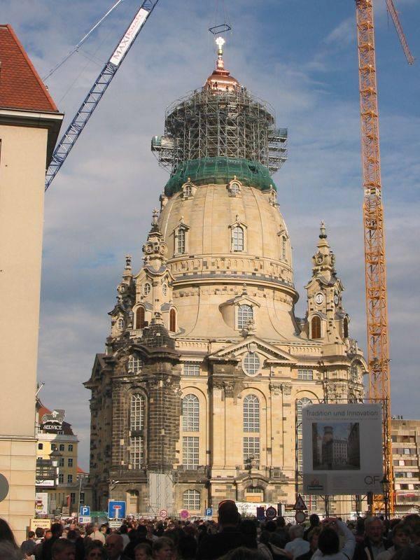 Церковь фрауэнкирхе в дрездене - возрождённая из руин – так удобно! traveltu.ru