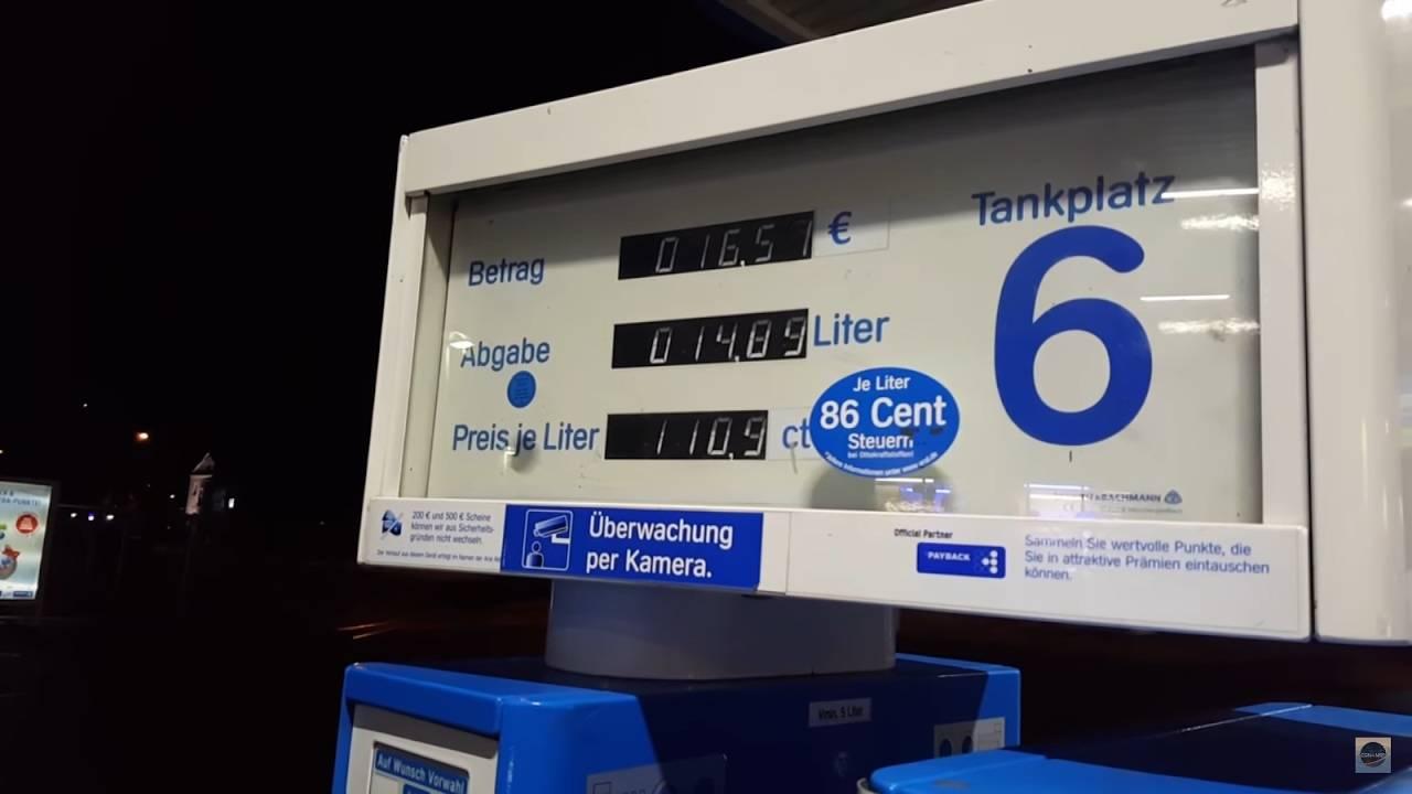 Цена бензина и особенности работы заправок в германии