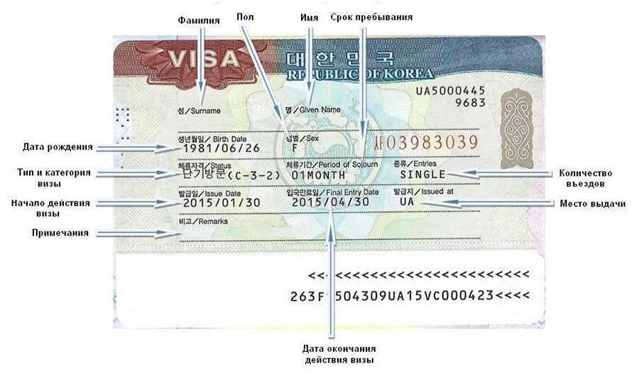 Рабочая виза в корею: образец анкеты для миграционной визы в южную корею