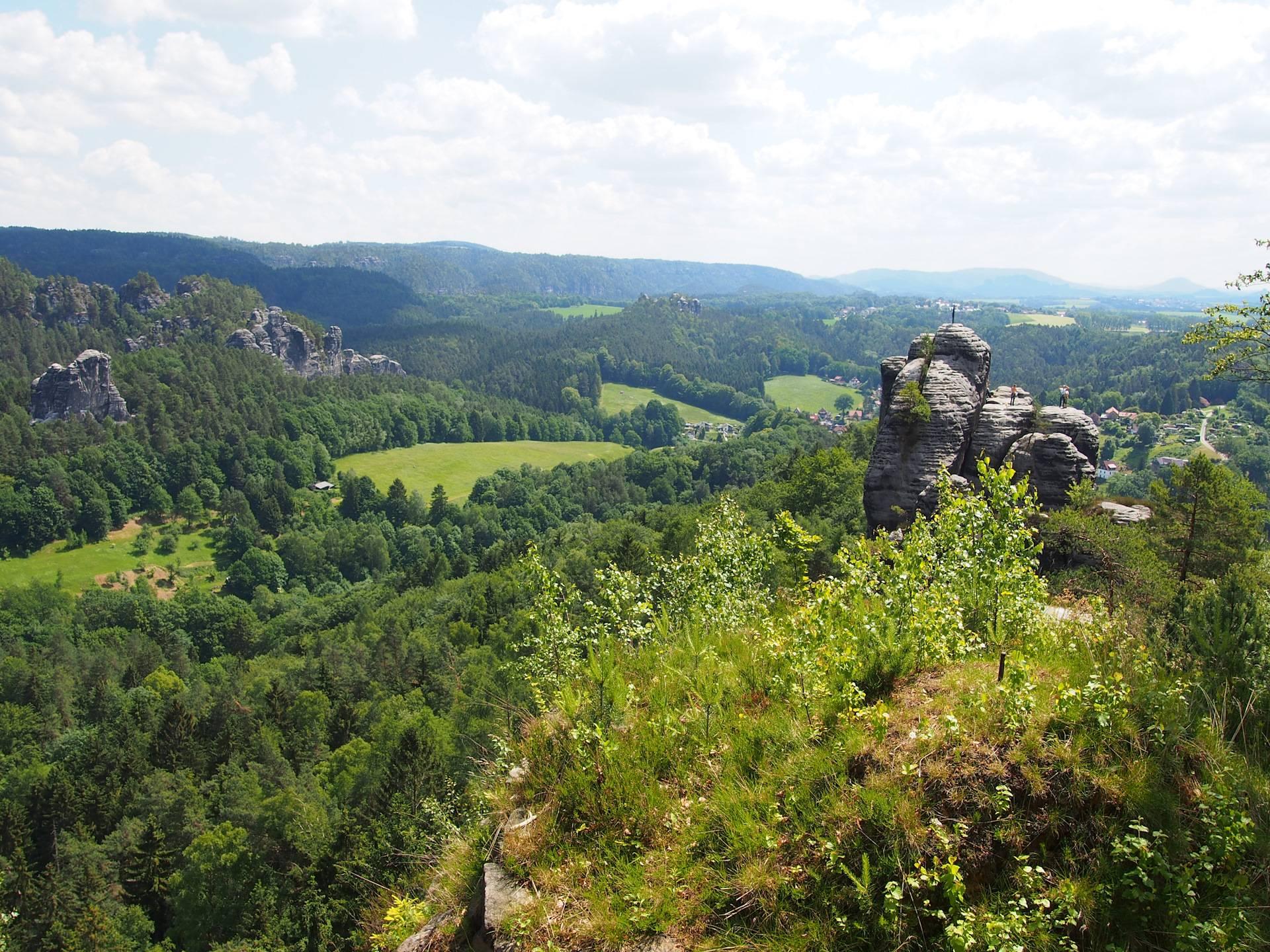 Скалы и мост бастай, саксонская швейцария: описание с фото