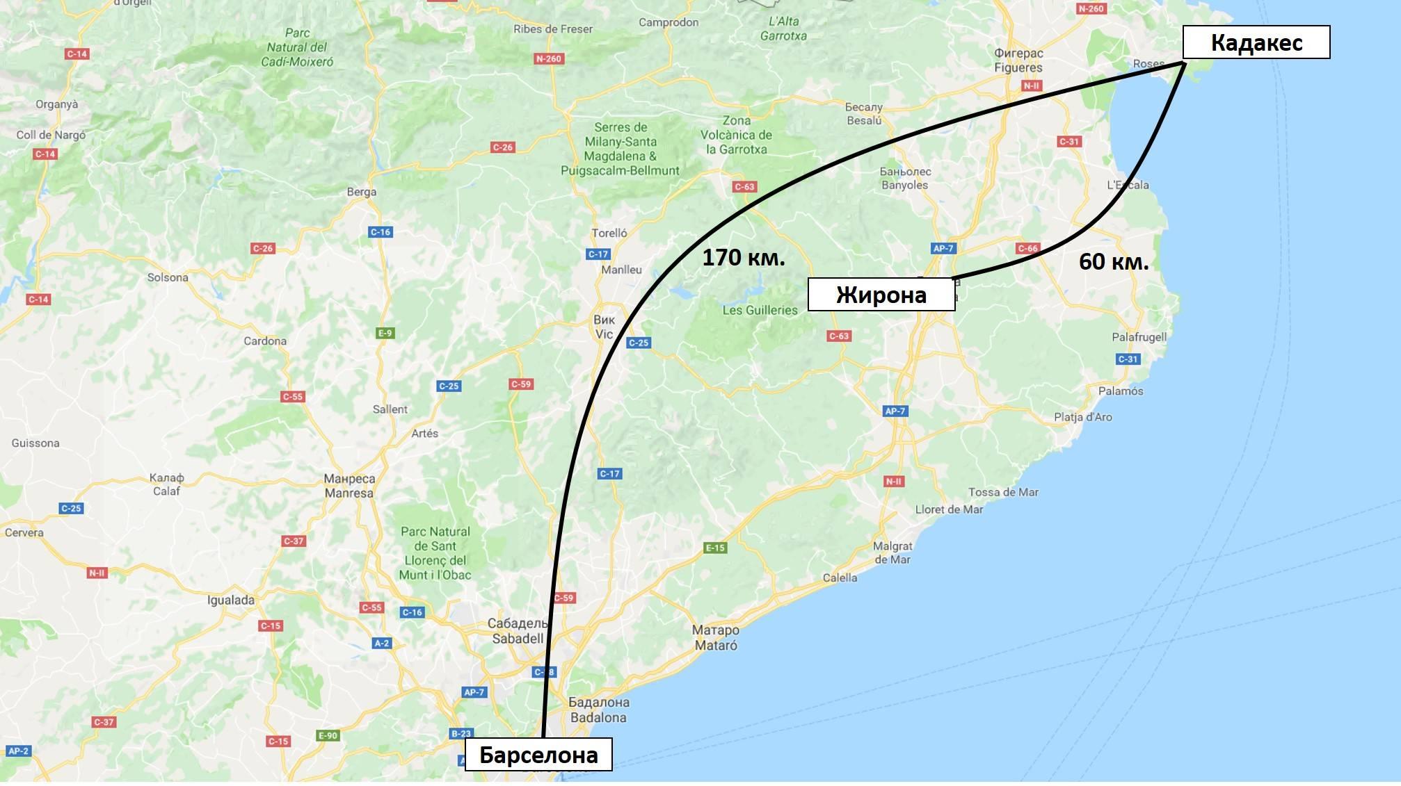 Фигерас (карта испании на русском): как добраться из барселоны самостоятельно
