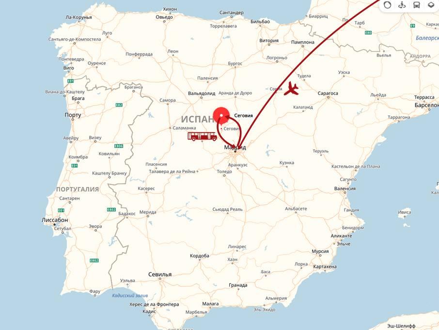 Как лучше всего проложить автомобильный маршрут из мадрида в лиссабон на 7 дней с заездом в другие города испании и португалии?
