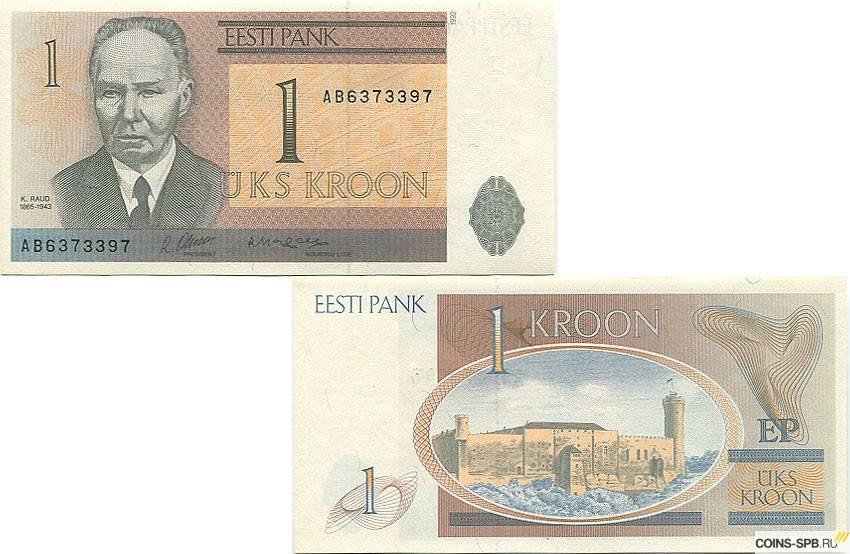 Эстонская крона — википедия