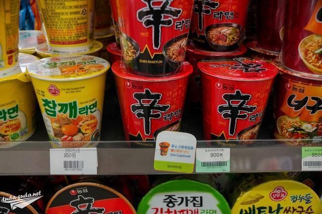 Цены на продукты питания в южной корее