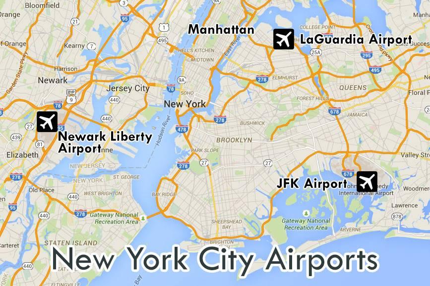 Международные аэропорты в нью-йорке
