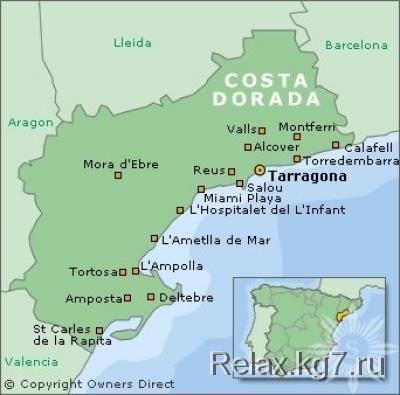 Испанское побережье коста дорада (costa dorada)