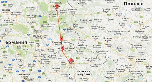 Расстояние от праги до мюнхена