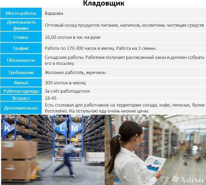 Работа в варшаве для украинцев, русских и белорусов - как найти