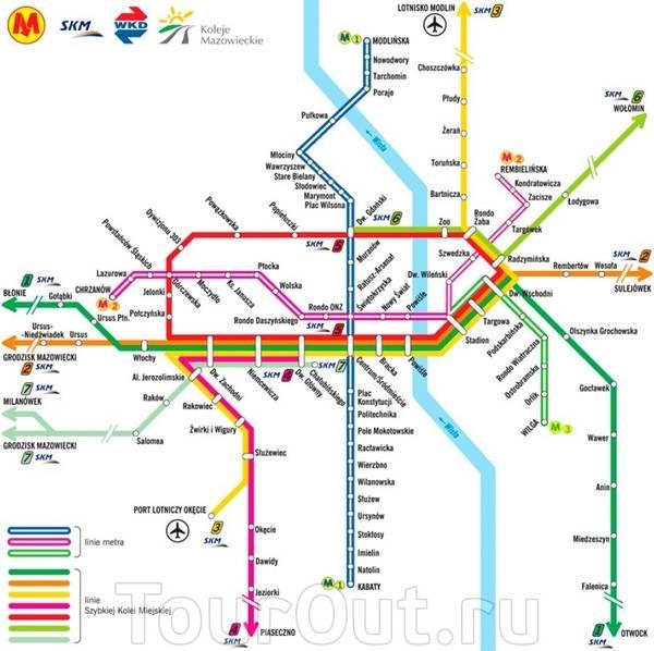 Варшавское метро карта, схема метро варшавы на русском языке, есть ли в варшаве метро