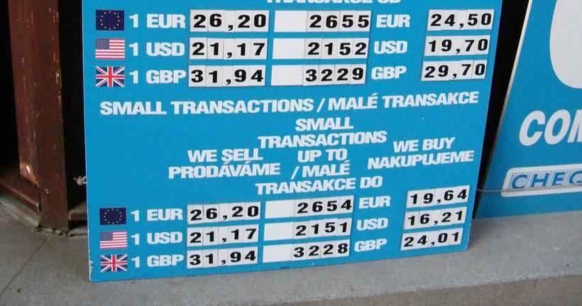 Валюта чехии. обмен валюты в праге/чехии. сколько денег брать с собой в чехию?