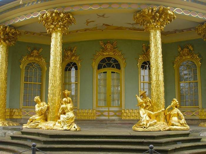 Новый дворец в парке сан-суси (потсдам)