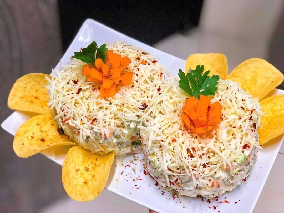 Украшение салатов/ фото