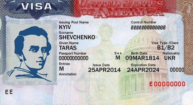 Стоимость визы в сша (петербург)