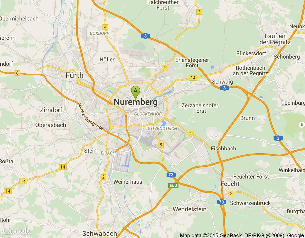 Расстояние между нюрнбергом и мюнхеном
