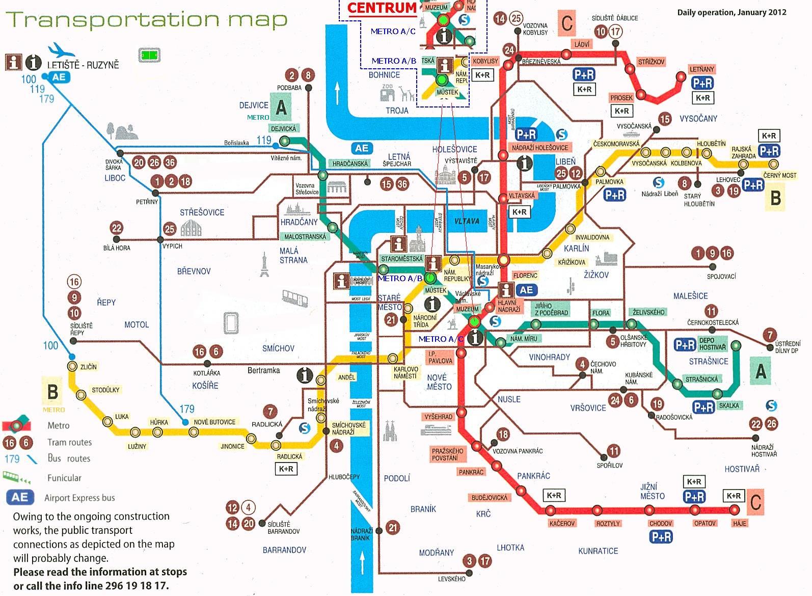 Транспорт в праге: как ездит, сколько стоит + схемы pdf ᐉ прага лайф