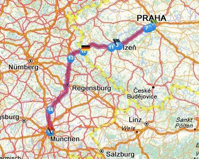 Прага - мюнхен: как добраться самостоятельно, расстояние