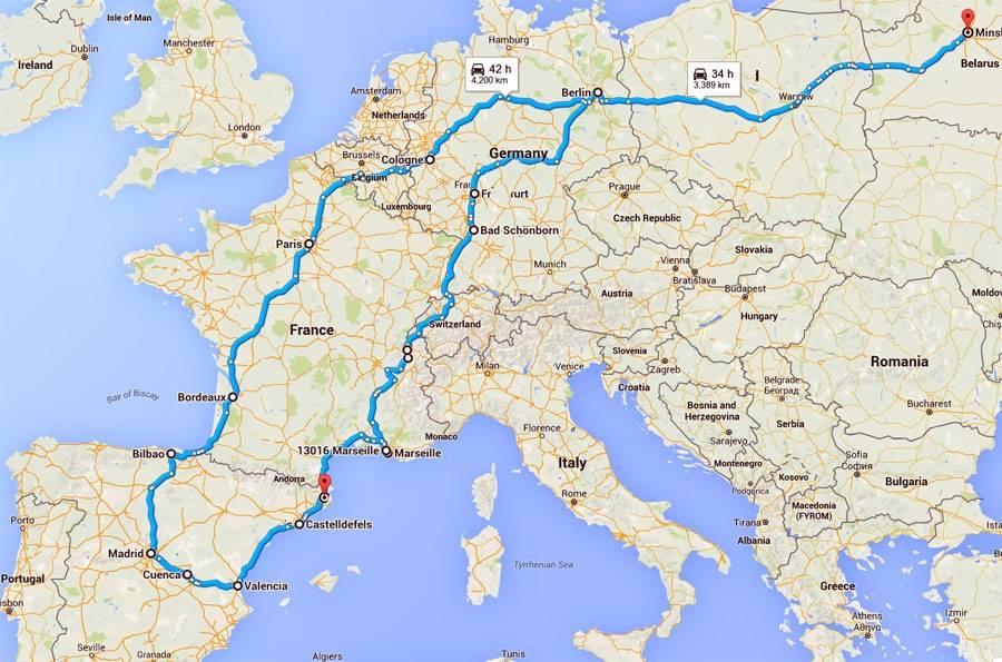 Расстояние от барселоны до бильбао