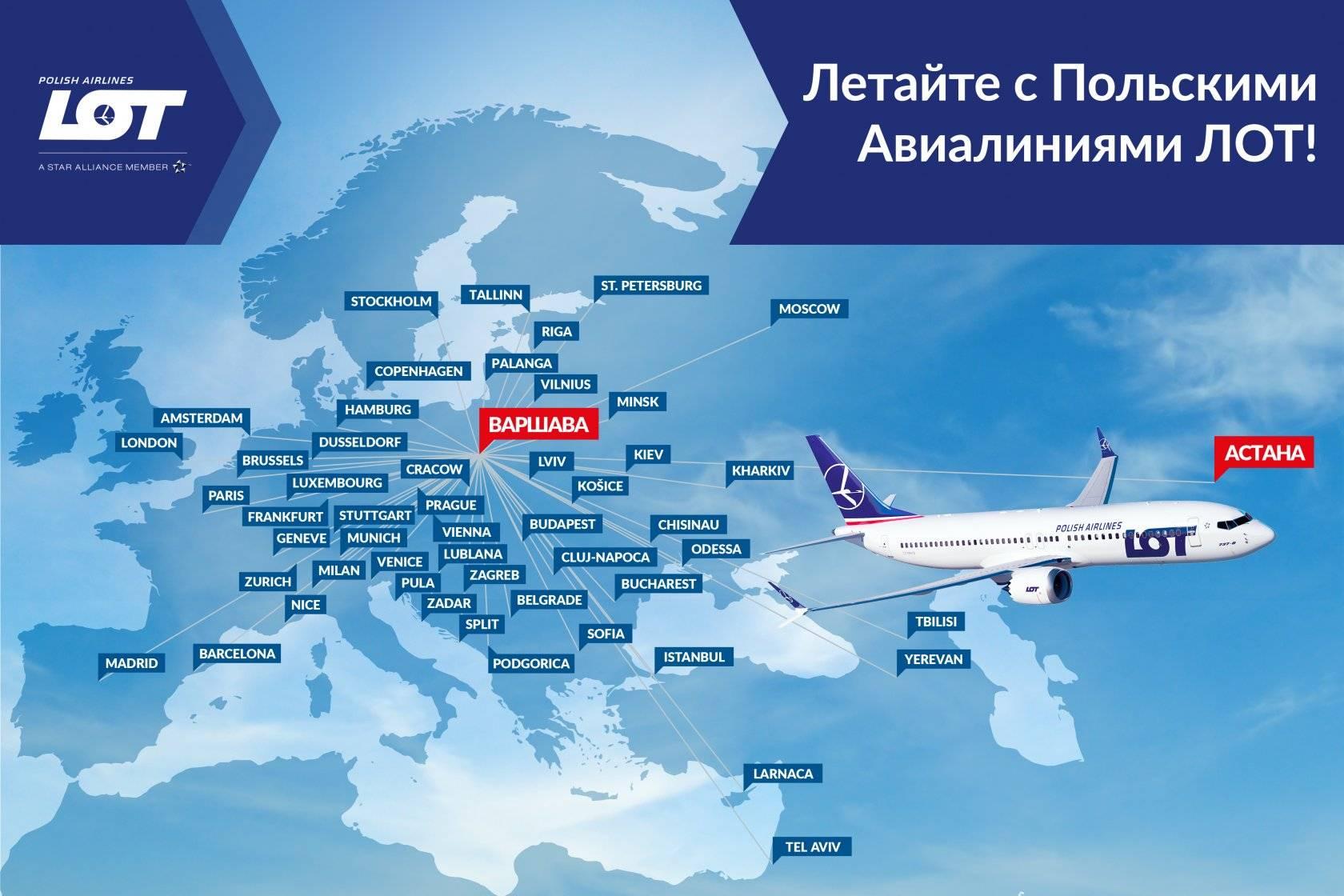 Польская национальная авиакомпания «lot polish airlines»