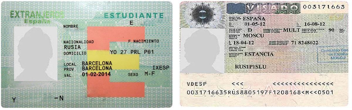 Виза d. вид на жительство в испании без права трудовой деятельности.