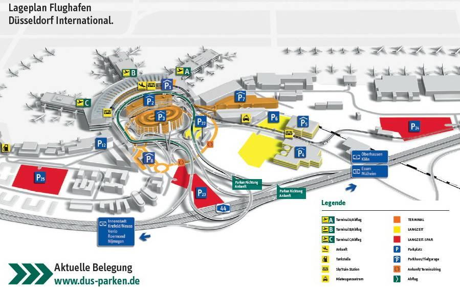 Аэропорт дюссельдорфа - третий в германии по величине