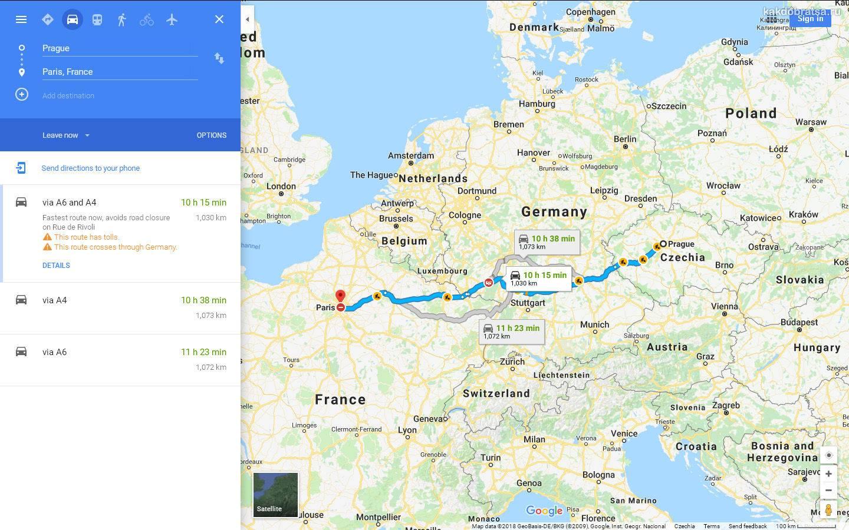 Как добраться из парижа в берлин