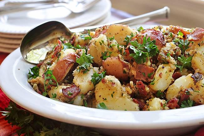 Картофельный салат по немецки – сытный и колоритный обед: рецепт с фото и видео