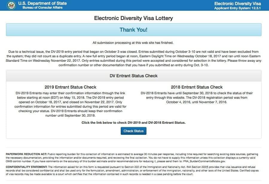 В ожидании: из-за проблем с сайтом участники лотереи Green Card-2020 не могли узнать ее результаты