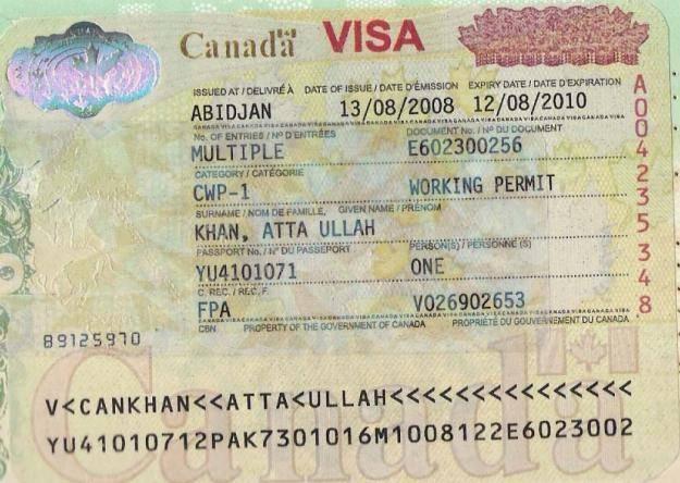 Канада : получение даже туристической визы требует долгих хлопот с документами
