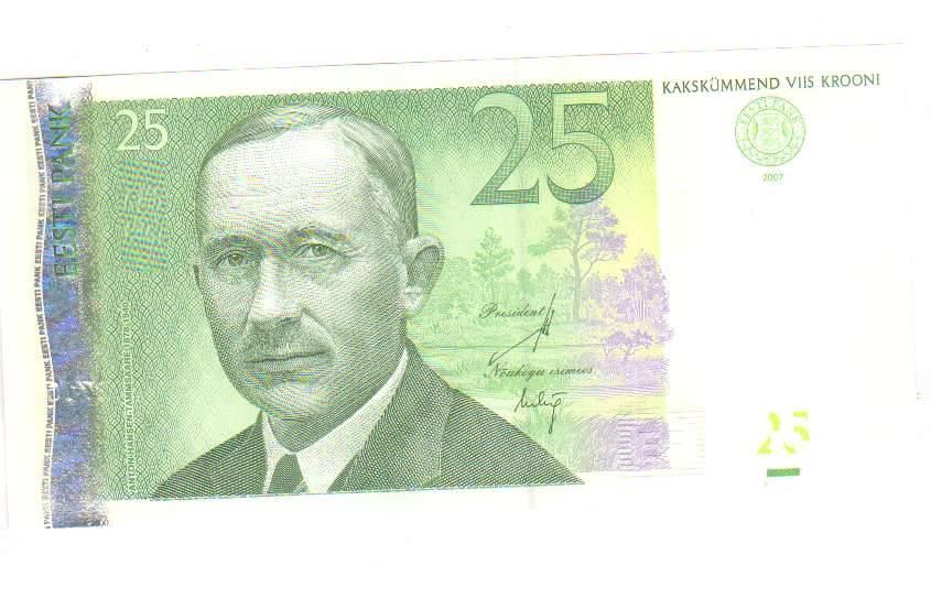 10 крон 2008. 90 лет основания эстонской республики и 16 лет повторного введения эстонской кроны подробное описание