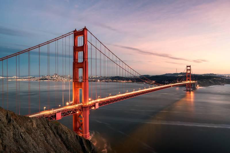 Мост золотые ворота в сан-франциско - фото, описание, интересные факты, карта