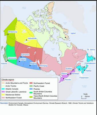 Климат канады – кратко о климатических поясах и условиях