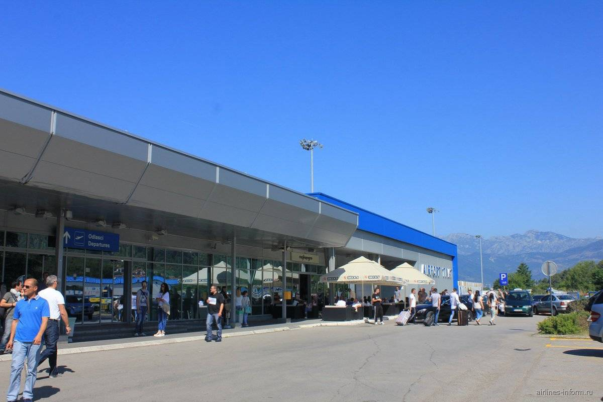 Международные аэропорты черногории: список, в каком городе находятся